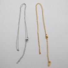 12 colliers maille forçat  0.90mm  40cm +rallonge 5cm en acier inox