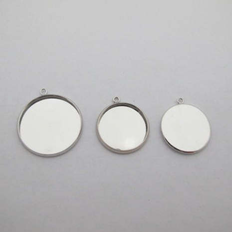 30 pcs Support cabochon rond 20mm/25mm
