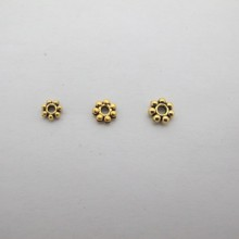 100 pcs intercalaires en métal doré 4mm/5mm/6mm