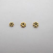 Intercalaires en métal doré 4mm/5mm/6mm - 100 pcs