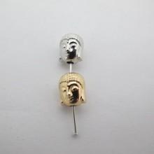 Perles bouddha en métal 10x9mm - 30 pcs