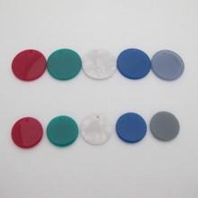 Acetate Round Pendant 20mm/25mm - 20 pcs