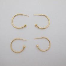 10 pcs clous d'oreilles 20mm/25mm Doré à l'or fin