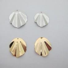 Pendentif coquillage Doré à l'or fin 25mm/30mm - 10 pcs