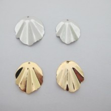 Shell Pendant Gold plated 25mm/30mm - 10 pcs