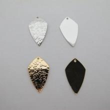 10 pcs pendentif goutte 25x15mm Doré à l'or fin