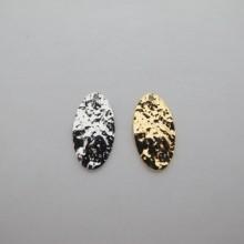 10 pcs pendentif ovale 19x10mm Doré à l'or fin