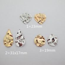 10 pcs pendentif Doré à l'or fin
