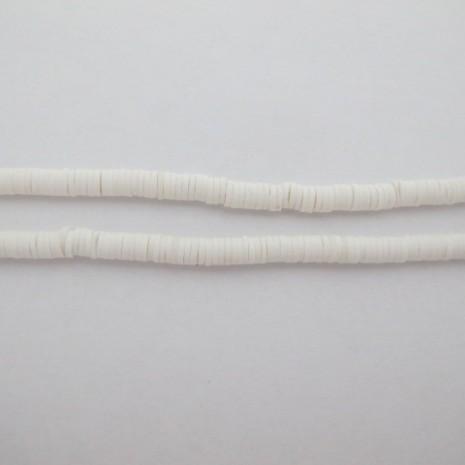 Rondelles en pâte polymère 5MM- Fil De 39 Centimetres