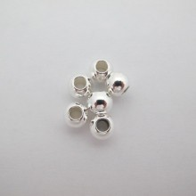 50 perles rondes en laiton 8x4mm