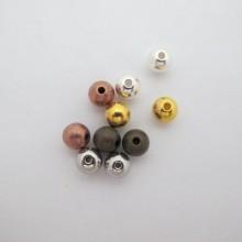 50 perles rondes en laiton 8x2mm