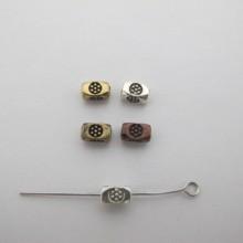 100 Perles En Métal 7X4mm