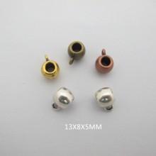 50 Attaches pendentifs 13x8mm pour cordon 4mm