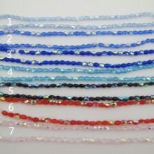 Perles en verre 4x6mm - 36cm