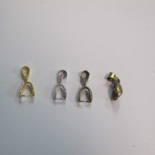 50 Attaches pendentifs 13mm