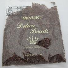 100 GRS MIYUKI DELICA 11/0 DB1051matte metallic bronze gold iris