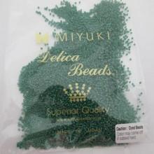 50 GRS MIYUKI DELICA 11/0 DB0656 DYED OPAQUE GREEN