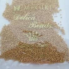 50 GRS MIYUKI DELICA 11/0 DB0331 MAT 24KT GOLD PLATED