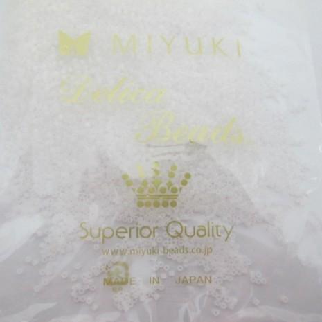50 GRS MIYUKI DELICA 11/0 DB0220 white opal