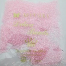 50 GRS MIYUKI DELICA 11/0 DB0055 PINK LINED CRYSTAL AB