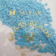 50 GRS TL0413 MIYUKI TILA 5X5X1.9MM Opaque Turquoise Blue