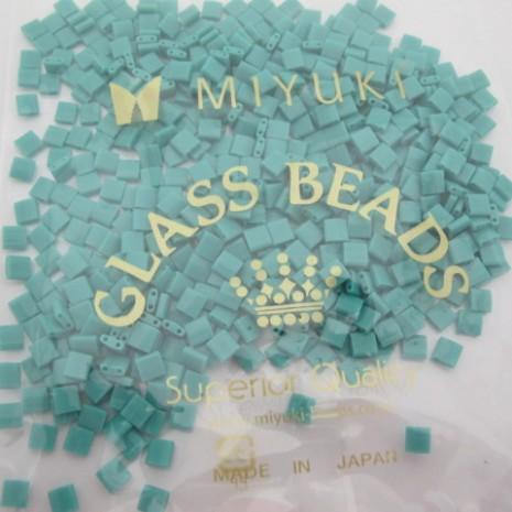 50 GRS TL0412 MIYUKI TILA 5X5X1.9MM Opaque Turquoise Green