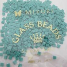 TL0412 MIYUKI TILA Opaque Turquoise Green 5x5x1.9mm - 50g