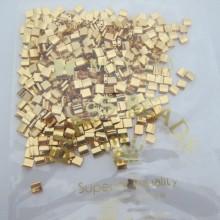 TL0191 MIYUKI TILA Gold Plated 5x5x1.9mm 24KT - 50g