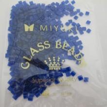 50 GRS TL0151MIYUKI TILA 5X5X1.9MM Transparent Cobalt