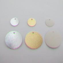 pendentif ronde simili-cuir 20mm /38mm