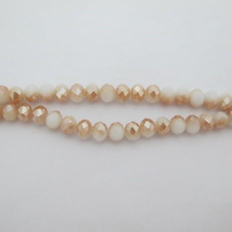 Perles facettées 10mm en verre-Fil de 56 Centimetres