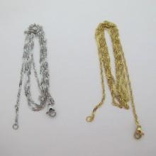 colliers maille serpent plat 2mm 45cm/80cm