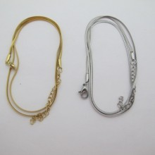 10 pcs Serpentine Stainless Steel Flat Mesh Necklace 2mm - 45cm