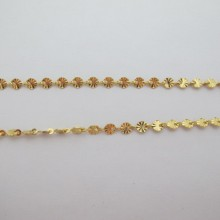 1m Stainless steel sequin chain 5mm