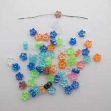 Plastic flower beads 7mm - 125g