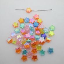 125g Plastic Star Beads 11mm