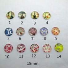 50 pcs Glass flat cabochon 18mm