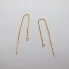 10 pcs Boucles d'oreilles fil 90mm  Doré à l'or fin