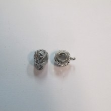 50 Pendant Clips 10x15mm for 5mm cord