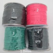 100 mts fil coton ciré élastique 1.0 mm