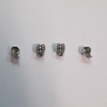 100 Attaches pendentifs 7x10mm pour cordon 5mm