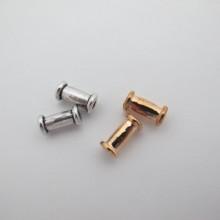 50 Perles En Métal 12x7mm