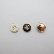 Gold Pendant 13mm - 10 pcs