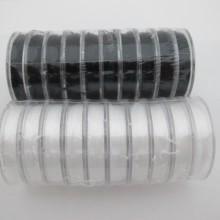 Fil de nylon élastique 0.80mm blanc x10m