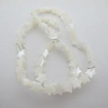 55 pcs perles en nacre étoile 8mm