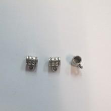 100 Attaches pendentifs 8x10mm pour cordon 5mm