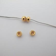 Perles Intercalaires Doré à l'or fin 3x5mm - 20 pcs