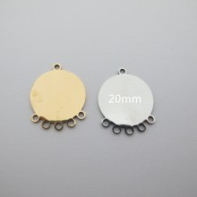 10 pcs pendentif acier inoxydable 26x21mm