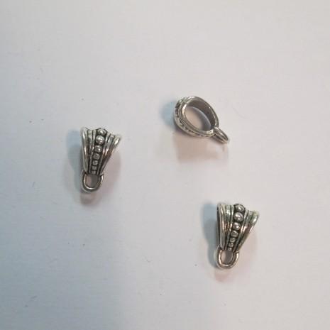 50 Attaches pendentifs 10x15mm pour cordon 8x5mm