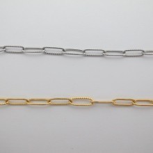 STAINLESS STEEL RECTANGLE CHAIN 12x4mm - 10m